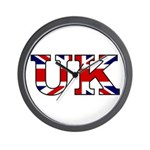 UK Lettering Wall Clock