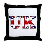 UK Lettering Throw Pillow
