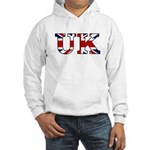 UK Lettering Hooded Sweatshirt