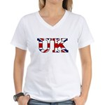 UK Lettering Women's V-Neck T-Shirt