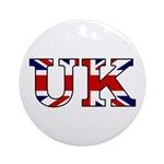 UK Lettering Ornament (Round)