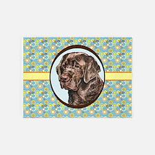 Chocolate Labrador Retriever Retro 5'x7'Area Rug