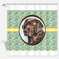 Chocolate Labrador Retriever Retro Shower Curtain