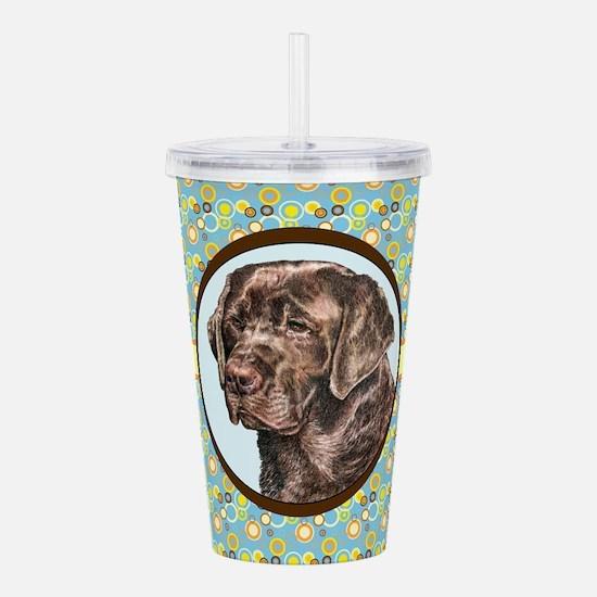 Chocolate Labrador Ret Acrylic Double-wall Tumbler