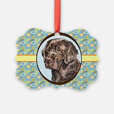 Chocolate Labrador Retriever Retr Ornament