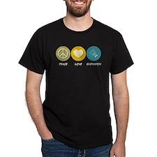 Peace Love Badminton T-Shirt