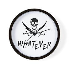 Whatever Pirate Wall Clock