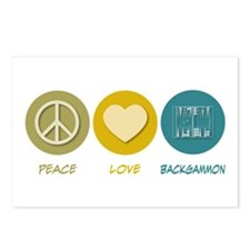 Peace Love Backgammon Postcards (Package of 8)