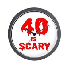 40 is scary Wall Clock