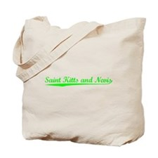 Vintage Saint Kitt.. (Green) Tote Bag
