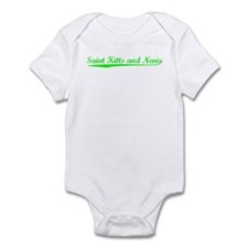 Vintage Saint Kitt.. (Green) Infant Bodysuit