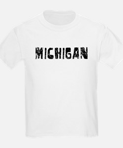 Michigan Faded (Black) T-Shirt