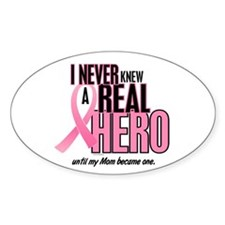 Never Knew A Hero 2 (Mom) Oval Decal