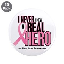 """Never Knew A Hero 2 (Mom) 3.5"""" Button (10 pack)"""