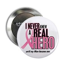 """Never Knew A Hero 2 (Mom) 2.25"""" Button (10 pack)"""