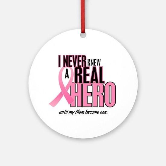 Never Knew A Hero 2 (Mom) Ornament (Round)