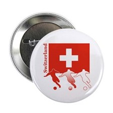 "Switzerland Soccer 2.25"" Button (10 pack)"