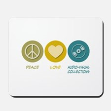 Peace Love Audio-Visual Collections Mousepad
