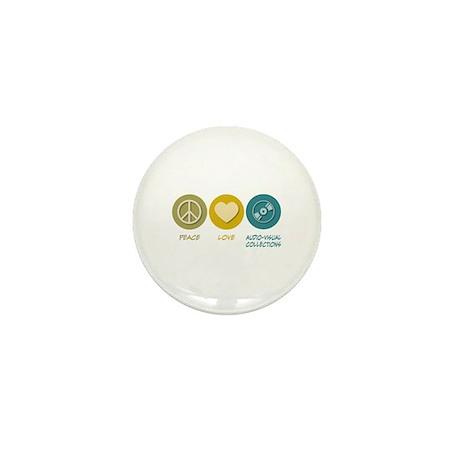 Peace Love Audio-Visual Collections Mini Button (1