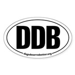 Round 'European-Look' DDB Oval Sticker