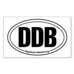 Round 'European-Look' DDB Rectangle Sticker
