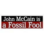 John McCain is a Fossil Fool bumper sticker