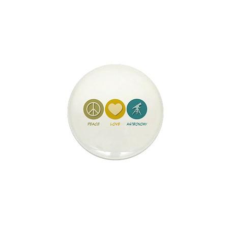 Peace Love Astronomy Mini Button