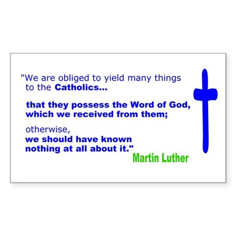 Martin Luther Quote Rectangle Sticker