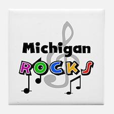 Michigan Rocks Tile Coaster