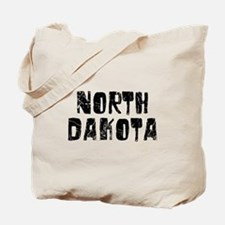 North Dakota Faded (Black) Tote Bag