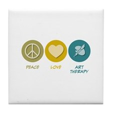 Peace Love Art Therapy Tile Coaster