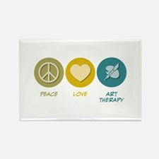 Peace Love Art Therapy Rectangle Magnet (100 pack)