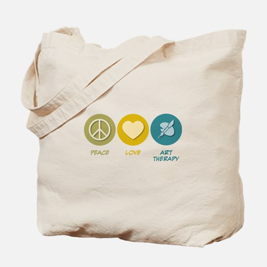 Peace Love Art Therapy Tote Bag