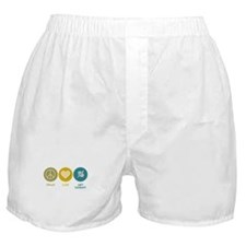 Peace Love Art Therapy Boxer Shorts