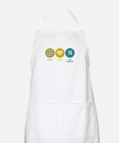 Peace Love Art Therapy BBQ Apron