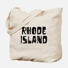 Rhode Island Faded (Black) Tote Bag