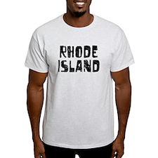 Rhode Island Faded (Black) T-Shirt