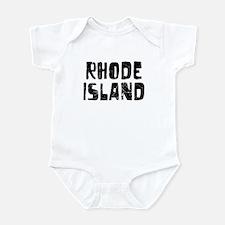 Rhode Island Faded (Black) Infant Bodysuit