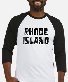 Rhode Island Faded (Black) Baseball Jersey