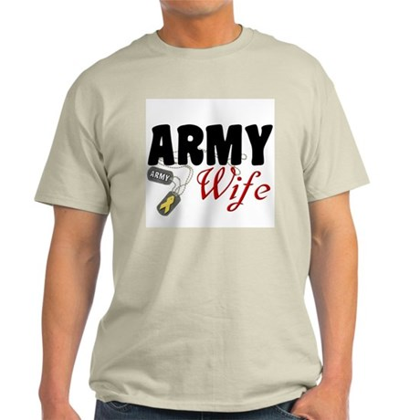Army Wife Dog Tags Light T-Shirt