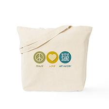 Peace Love Art History Tote Bag