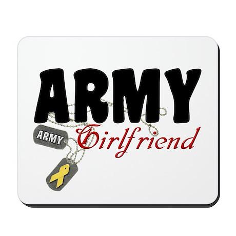 Army Girlfriend Dog Tags Mousepad