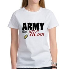 Army Mom Dog Tags Tee