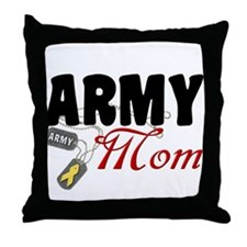 Army Mom Dog Tags Throw Pillow