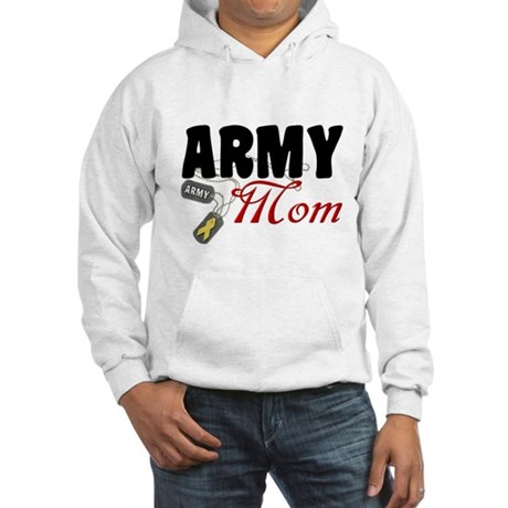 Army Mom Dog Tags Hooded Sweatshirt