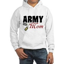 Army Mom Dog Tags Hoodie