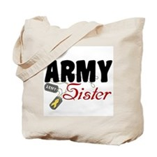 Army Sister Dog Tags Tote Bag