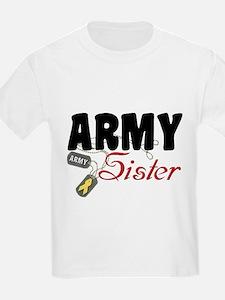 Army Sister Dog Tags T-Shirt