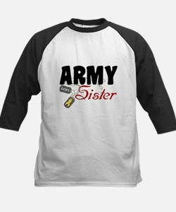 Army Sister Dog Tags Kids Baseball Jersey