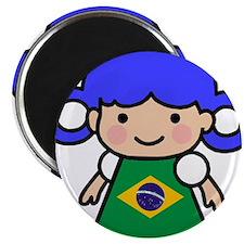 Brazil Flag Girl Magnet